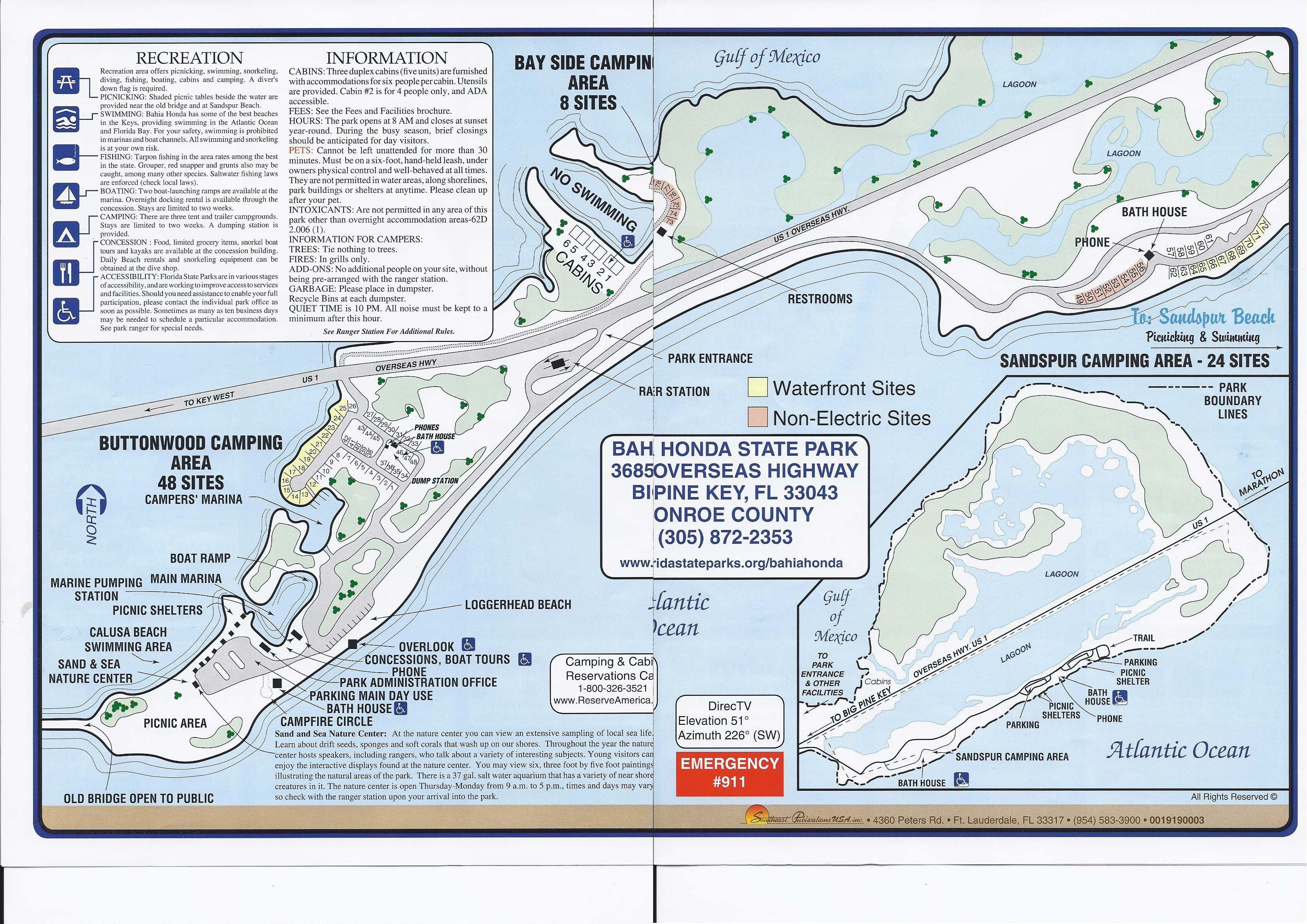 campground map bahia honda state park big pine key florida