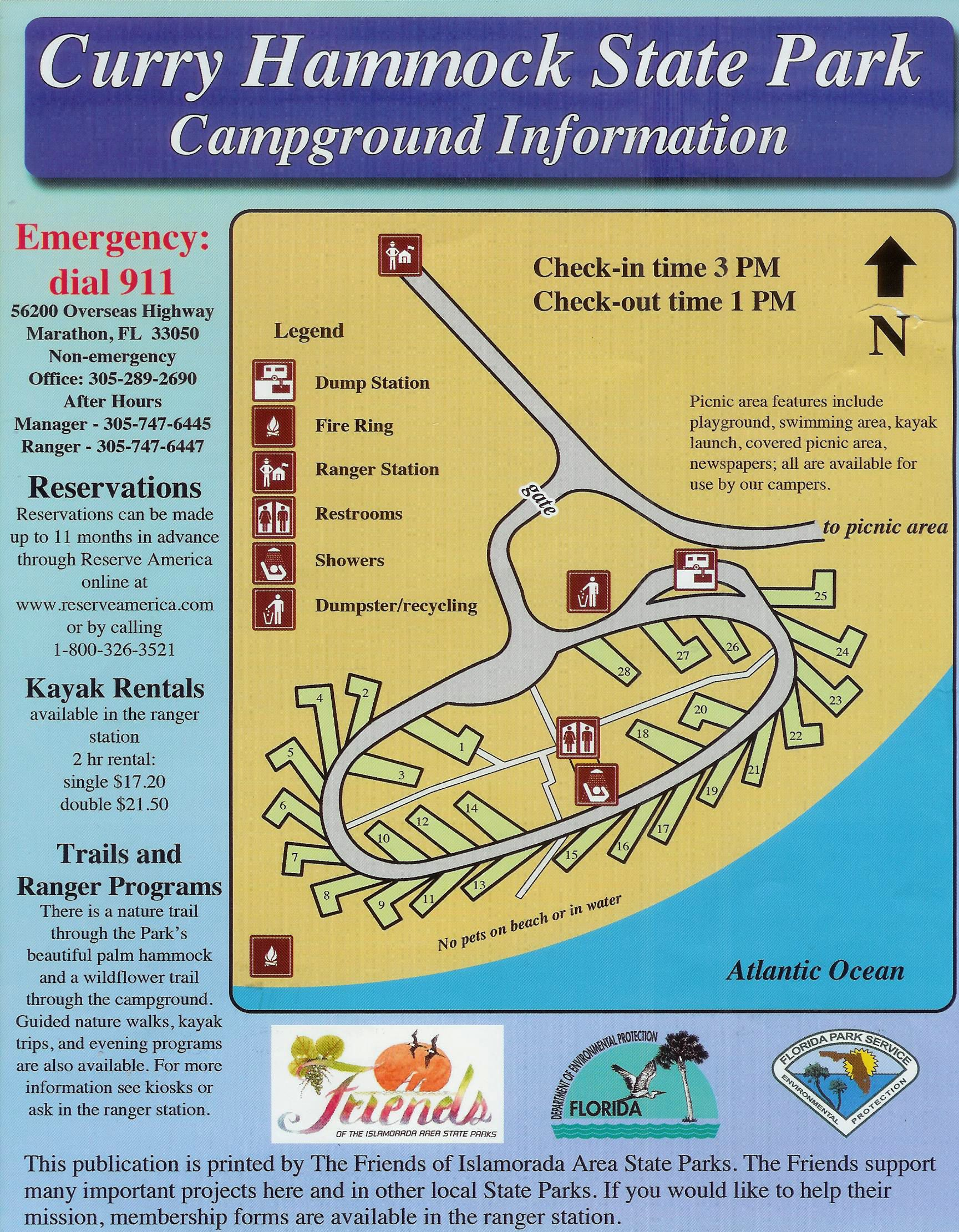 click on site number to open flickr photo page in new window campground map   curry hammock state park   marathon   florida  rh   curbcrusher