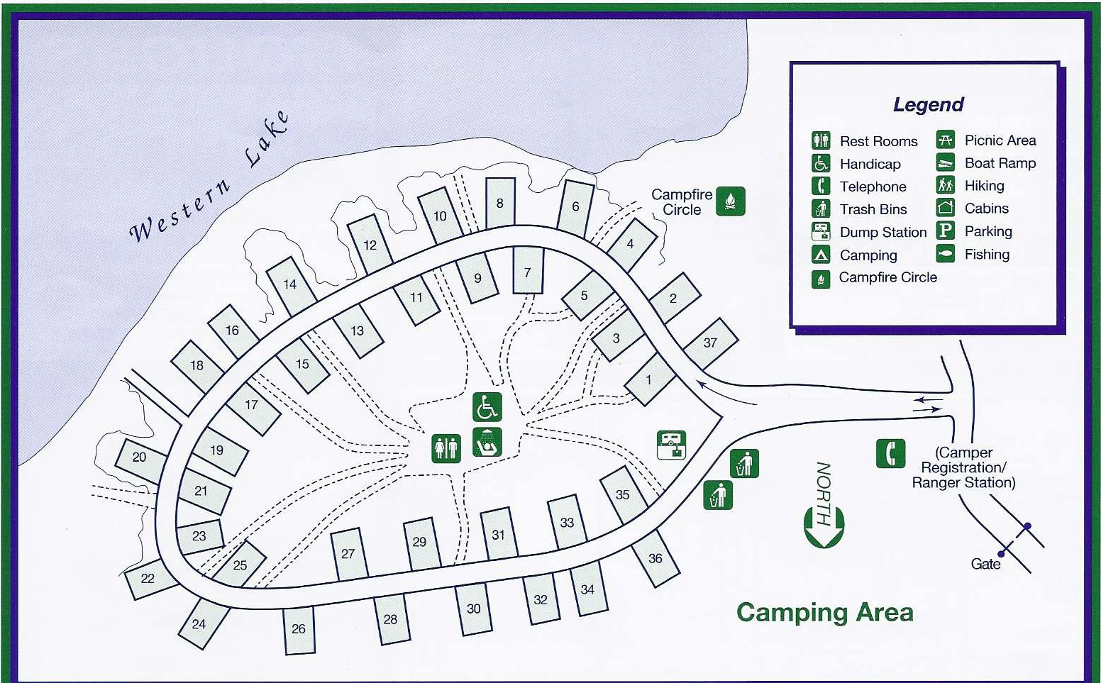 Campground Map Grayton Beach State Park Seaside Florida - Florida map state parks