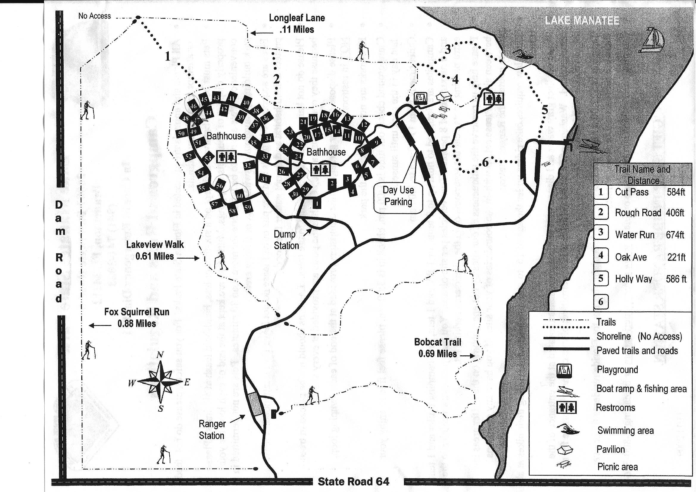 Campground Map Lake Manatee State Park Bradenton Florida - Florida map state parks